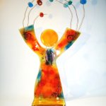 Exclusieve glaskunst - 'Catch your dreams and make them true' - 75x45 cm € 395,- (leverbaar rond Pasen)