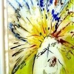 Uniek glazen kunstwerk voor de wand - schilderij in fusing glas, duidelijk geïnspireerd door kunstschilder Dégas