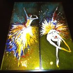 Exclusieve wandkunst - de glaswerken ofwel schilderijen hangen ook prachtig tegen een donkere wand ...