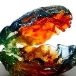 Glaskunst - uniek, bijzonder en kleurig design 'Geborgenheid' - M. Rubaniuk - BxHxD 28x21x17 cm € 459,-