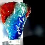 Mooi glas - uniek modern glaskunstwerk in zwaar glas - Monika Rubaniuk - HxBxD 37x28x8 cm € 549,-