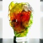 Glaskunst - exclusief en uniek, dubbelzijdig glasobject 'Geborgenheid' - Rubaniuk HxBxD 32x20x11 cm € 479,-
