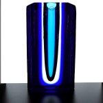 Glaskunst - exclusieve vaas, glassculptuur - Ozzaro - HxBxD 25x15x6 cm € 489,-