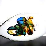 Glaskunst - modern en uniek kunstwerk in kristalglas - HxBxD 15x27x15 cm € 359,-