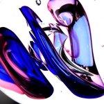 Kunst, object in kleurrijk en modern glas van glasatelier Ozzaro ... de interne vormgeving is uniek ...