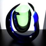 Exclusief glasobject Ozzaro - sculptuur/vaas op mooie wijze geslepen HxBxD 20x17x7 cm € 329,-