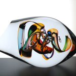 Moderne glaskunst- exclusief design in helder Boheems kristalglas - Ozzaro - BxHxD 32x16x19 cm € 359,-
