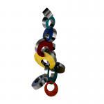 Abstract metalen beeld 'Verbondenheid' - Artisan House 102209-Ring Toss HxBxD 120x63x50 cm € 1979,-