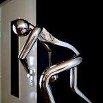 Modern beeld - edelstaal - balspeler - HxBxD 70x40x50 cm € 749,- nu € 699,-