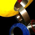 Close-up van Ring Toss, een mooi voorbeeld van 'Opbouwend' en 'Verbondenheid'... alle ringen zijn verbonden