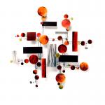 Metalen kunstwerk voor wand - Artisan House - C. Jeré - 320443 Monochrome BxHxD 91x94x8 cm € 539,-