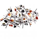 Wandsculptuur metaal - (rvs/koper) - C. Jeré by Artisan House - 320417 Calculation - BxHxD 147x99x8 cm € 789,-