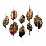 Wandobjecten in bronstint - Artisan House - 320757 Eminent - BxHxD 183x152x8 cm 5-delig € 1439,-
