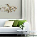 De metalen abstracte kunst voor de wand is tijdloos mooi en zeer geschikt voor zowel het moderne als klassieke interieur