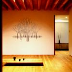 Metalen 3D wandobjecten 'Bomen' ...  handbeschilderd, prachtig in een zen-ruimte ofwel een natuurlijke omgeving, om geheel tot rust te komen ...