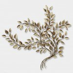Exclusief metalen wandobject - Artisan House - 320771 Platinum Leaves BxHxD 173x157x13 cm € 1149,-