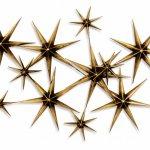 Ambachtelijk wandobject in metaal, bronskleurig, met imponerende dieptewerking - Artisan House - C. Jeré - 320629 Evening Stars BxHxD 163x79x18 cm € 849,-
