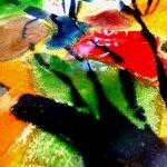 Modern gekleurd glas van Eratini ... mooie abstracte en unieke kunst in harmonieus kleurgebruik ...