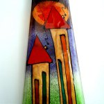 Mooie kleurrijke glaskunst voor de wand van Eratini in tijdloos design ...