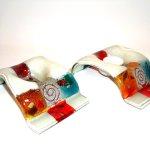 Moderne waxinelichthouders - Eratini glasobjecten - offwhite / kleur 10x20 cm per stuk € 29,95/ setprijs € 49,95