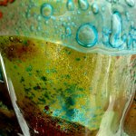 Kunstwerk in glas in natuurlijke kleuren en prachtige combinaties in exclusief glasdesign van Eratini ...