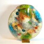 Modern glas - siervaas met deksel - HxBxD 35x33x13 cm € 459,- / 32x30x13 cm € 399,- /27x25x13 cm € 329,-