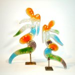 Glasobjecten Eratini 'Go with the flow and live your life the way you like ...' H 40 cm € 149,95/ 30 cm € 119,95