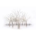 Wandobject 'Winterse bomen' in lichte tinten, staat voor 'verstilling, rust, vrede en overpeinzing...', met signatuur en certificaat BxHxD 137x104x10 cm € 699,-