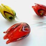Prachtige glazen tulpen in rode en gele multicolor tint - L 50 cm - aanbieding € 17,95 voor € 15,95 per stuk