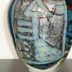 Exclusief glas ..., een subliem stijlvol object in zeer hoogwaardige kwaliteit, waarin zilver is verwerkt ...