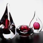 Mooie druppels van kristalglas - Ozzaro glaskunst - H 4-14 cm - per st. € 29,95 / per 2 st. € 10,- goedkoper