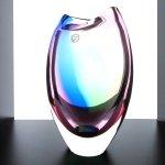 Kunstobject in mondgeblazen glas in mooie 'regenboog'kleuren - Ozzaro - HxBxD 20x12x10cm € 169,95