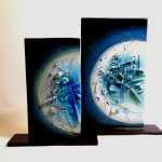 Kunstwerken 'Aqua', unieke beelden keramiek HxBxD 33x28x8 cm eenmalige aanbieding € 99,- / 40x34 cm € 149,-