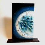 Uniek kunstobject keramiek 'Aqua' - Pontikis -  HxBxD 33x28 cm eenmalige aanbieding € 99,- / 40x34 cm € 149,-