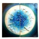 Kunst & design voor de wand - modern keramiek - 'Aqua' - Pontikis - HxB 46x48 cm eenmalige aanbieding € 359,-
