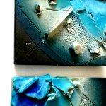 Modern kunstwerk voor de wand, uniek vormgegeven in prachtig keramiek met reliëf ...